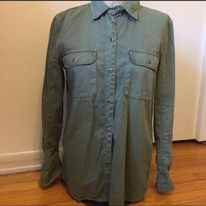 Madewell Utility Shirt in Green